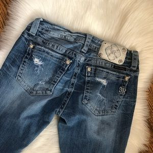 Miss Me Bling Distressed Signature Bootcut Jeans